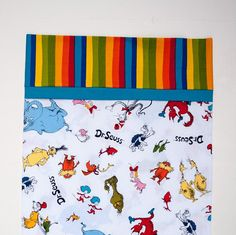 Dr Seuss Toddler Travel Child's Pillowcase by CarolsStitching