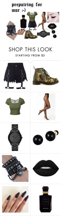 """""""Untitled #34"""" by aniapenguin on Polyvore featuring Dr. Martens, LE3NO, Michael Kors, Lord & Taylor, Lime Crime and Keiko Mecheri"""