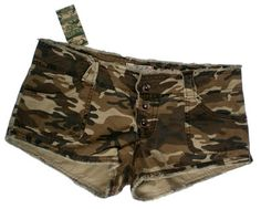 Camouflage Fashion Women Mini Micro booty Shorts Camo 6
