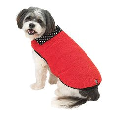 Your canine companion will be snug and warm in the Fido's Fuzzy Fleece Dog Vest, just in time for winter!