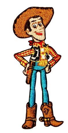 Disney Toy Story Woody Standing Embroidered Iron On Applique Patch