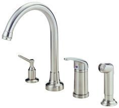 Danze D409112 Kitchen Faucet - Includes Side Spray and Soap Dispenser From the M Stainless Steel Faucet Kitchen Single Handle