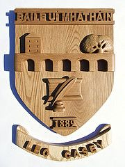 Brennan Woodcarving - Ballymahon GAA Crest in Irish Oak Summer Courses, Woodcarving, Irish, Art, Art Background, Summer Classes, Irish Language, Wood Carvings, Kunst