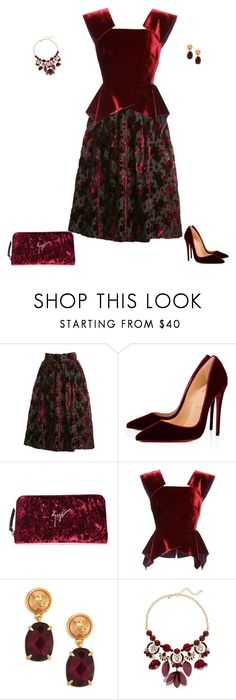 """Untitled #1930"" by angelbear38 ❤ liked on Polyvore featuring Christian Dior, Christian Louboutin, Giuseppe Zanotti, Roland Mouret, Tory Burch and INC International Concepts"
