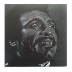 Blackula. Acrylic on wood panel -John Perry