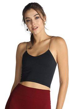 e0d0fd74cc6  15.99 Nikibiki Womens Seamless Skinny-Strapped Cropped Camisole