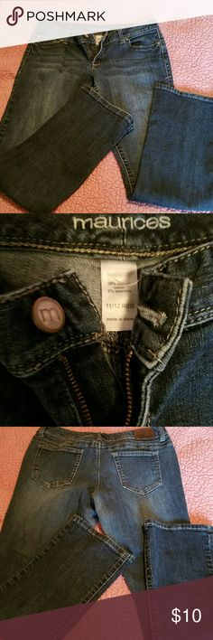 Maurices Jeans Maurices jeans in a dark wash with no stains holes or distressing. These are the perfect everyday jeans with a comfortable boot cut fit. Open to trades and offers! Maurices Jeans Boot Cut