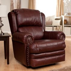 Have to have it. Catnapper Deluxe Buckingham Brown Leather Rocker Recliner $749.00