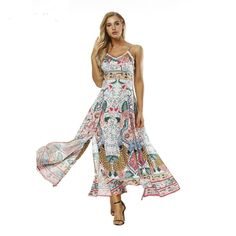 3f11eab473bb 2018 Fashion hawaii Dress vestido Classic Print Maxi Summer Dress Beach  Clothes Long Beach Bohemian Sexy Ladies Summer plus size