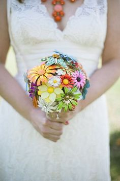 Vintage Wedding Bouquet ♥ Handmade Custom Vintage Brooch Wedding Bouquet