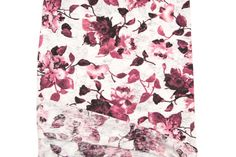 Burgundy and Off White Floral Burnout Knit by felinusfabrics