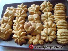 Μπισκότα βουτύρου. Biscotti Cookies, Cupcake Cookies, Chip Cookies, Greek Sweets, Greek Desserts, Greek Recipes, Sweets Recipes, Cookie Recipes, Vet Cake