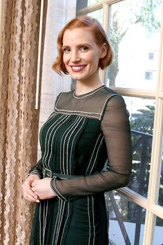 Jessica Chastain at Interstellar Press Conference in Beverly Hills, November 2014.