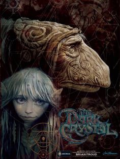 The Hardcover of the Jim Henson's The Dark Crystal: Creation Myths, Vol. 1 by Brian Froud, Brian Holguin, Alex Sheikman, Lizzy John Dark Crystal Movie, The Dark Crystal, Crystal Magic, Fantasy Movies, Fantasy Art, High Fantasy, Fantasy Books, Fantasy Creatures, Mythical Creatures