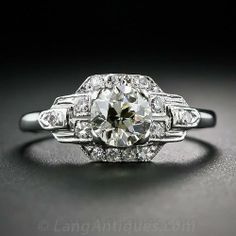 Art Deco .71 Carat Diamond Ring - 10-1-5962 - Lang Antiques
