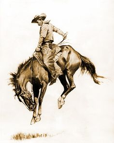 Exceptional art prints of A Sunfisher by Frederic Remington. O Cowboy, Frederic Remington, Vintage Cowgirl, West Art, Horse Drawings, Le Far West, Horse Art, American Art, American Indians