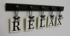 RELAX Sign Personalized Hanging Letters Includes 5 by NelsonsGifts, $25.00
