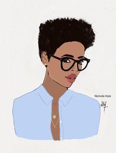 Welcome to Maison Nicholle Kobi Black Girl Art, Black Women Art, Black Girl Magic, Black Girls, Natural Hair Art, Pelo Natural, Illustrations, Illustration Art, Art Afro