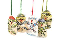 Christmas decoration, Snowman, Ceramic snowman ornaments