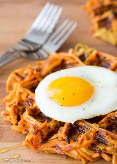 Cinnamon Apple Sweet Potato Waffles | That Oven Feelin'