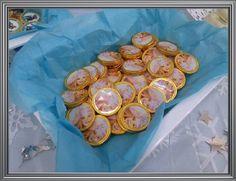 Monedas de chocolates personalizadas