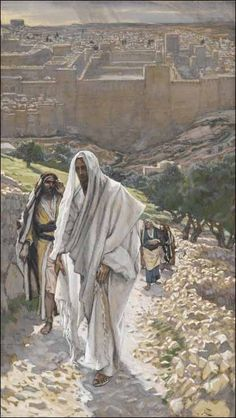 Jesus Goes in the Evening to Bethany