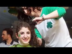 Two Girl's Headshave For CANCER DONATION Camp