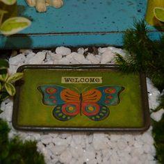 Fairy Garden Miniature Welcome Mat.  SHOP now $4.99