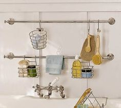 Check out the Mercer Bath Storage System in Bath Accessories, Tub Caddies & Shower Storage from Pottery Barn for . Shower Remodel, Shower Storage Solutions, Storage System, Shower Storage, Storage, Bathtub Storage, Bathroom Shower, Shower Basket, Storage Solutions