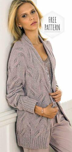 Stylish womens cardigan free pattern - Knitting patterns, knitting designs, knitting for beginners. Ladies Cardigan Knitting Patterns, Knitting Stitches, Knitting Designs, Knitting Patterns Free, Free Pattern, Knit Vest, Crochet Cardigan, Knit Crochet, Crochet Summer Dresses