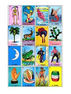 Loteria Mexicana Cartas Para Imprimir Loteria Cards, Harley Quinn, Scooby Doo, Board Games, Projects To Try, Joker, Comics, Fictional Characters, Hidden Rooms
