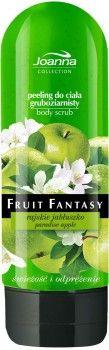 Peeling do ciała Fruit Fantasy zmiękcza, nawilża i poprawia jędrność skóry. Idealnie oczyszcza usuwając martwy naskórek, wygładza i nadaje sprężystość. Dzięki peelingowi skóra łatwiej się regeneruje i wchłania kosmetyki pielęgnujące, a soczysty zapach jabłuszka otuli Twe ciało.