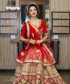 Nepali Wedding Dress - The Best Wedding Picture In The World Ethnic Fashion, Indian Fashion, Pear Shaped Dresses, Bridal Photography, Wedding Dress Styles, Bridal Sets, Bridal Looks, Traditional Outfits, Couture Fashion