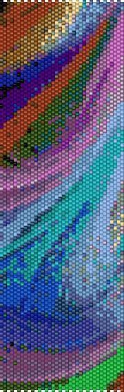 BPRB0004 Rainbow 4 Even Count Single Drop Peyote Cuff/Bracelet Pattern