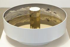 "Sue de Beer Installation View, 'Untitled (praxinoscope)'  Galerie Christian Ehrentraut, Berlin 2012  18"" x 18"" x 8"""
