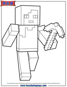 Alex From Minecraft Coloring Page  Minecraft Coloring Pages