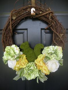 Shabby Chic Moss Squirrel Peony and Ranunculus by Daulhouseshop, $68.00
