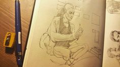 Просто вечерний рисунок.  #drawing #illustration #portrait #sketch #pencil #sketchbook #art #artwork #painting #eskiz #портрет #рисунок #карандаш #набросок #эскиз