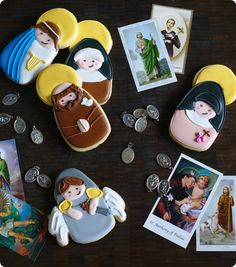 All saints day cookies for any time of the year, especially your favorite Saints feast day!