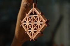 Wooden Jewelry, Unique Jewelry, Japanese Woodworking, Wood Art, Lanterns, Delicate, Carving, Handmade Gifts, Etsy