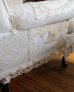 patchwork lace sofa cover