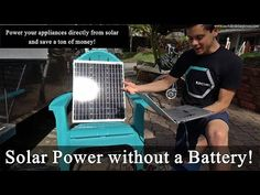 Solar Power without a Battery! Solar Panel + Converter = for Small Loads Small Solar Panels, Solar Panels For Home, Solar Energy, Solar Power, Diy Heater, Off Grid Solar, Trailer Build, U Tube, Landscaping Software