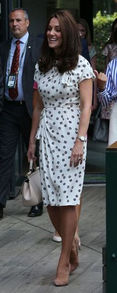 28c96fc8be 14 Jul 2018 - The Duchess of Cambridge attends Wimbledon women s final Kate  Middleton Dress