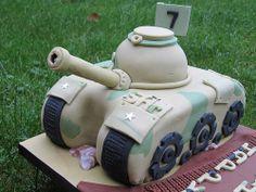 An Army Tank Cake Birthday Cake for Boys