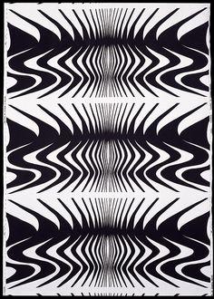 """Barbara Brown - """"Expansion"""" 1966 (textile pattern)"""