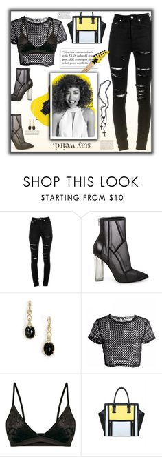 """Fishnet Fun"" by fassionista ❤ liked on Polyvore featuring Yves Saint Laurent, Steve Madden, Judith Ripka and Paul Mitchell"