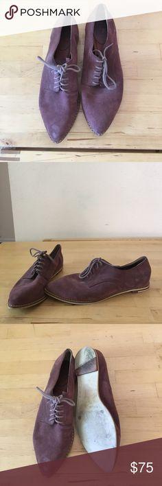 Frye suede Oxford shoes Frye burgundy suede Oxford shoes. Frye Shoes Flats & Loafers
