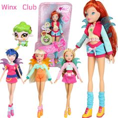 2016 Newest Winx Club Doll rainbow colorful girl Action Figures Fairy Bloom Dolls with lovely pets Classic Toys For Girls Gift