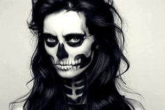 Halloween make-up - as a zombie at the Halloween party Halloween 2015, Halloween Make Up, Halloween Party, Halloween Costumes, Halloween Fashion, Girl Costumes, Halloween Ideas, Halloween Skeleton Makeup, Creepy Halloween