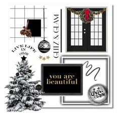 """""""Black Christmas ♠️🎄"""" by anduu19 on Polyvore featuring interior, interiors, interior design, home, home decor, interior decorating, Americanflat, Argent, Maybelline and Improvements"""